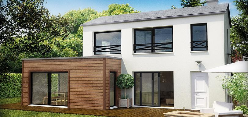 Extension maison toit plat ph nix volution - Agrandissement maison toit plat ...